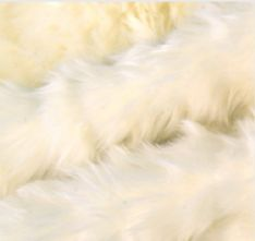 Winter White Faux Fur Fabric Fat Quarter